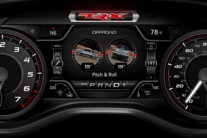 2021 RAM 1500 TRX instrumental panel