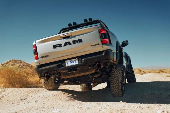 2021 RAM TRX on rocks test