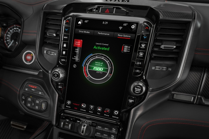 2021 RAM TRX touch screen display