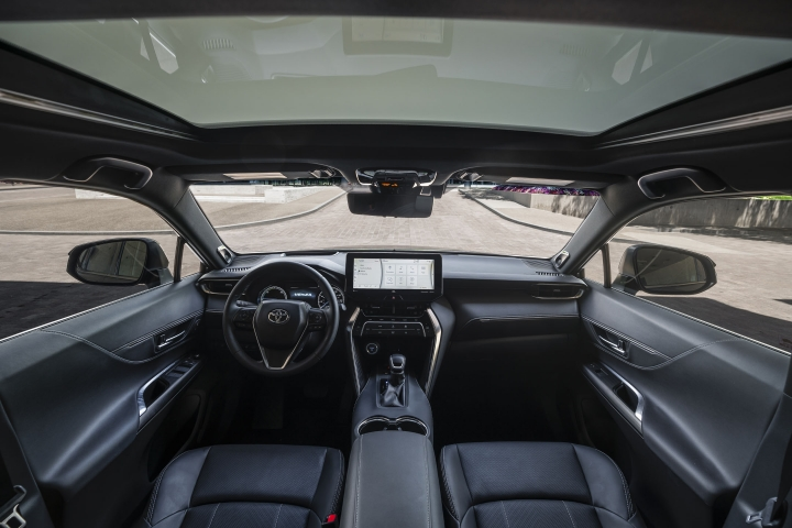 2021 Toyota Venza Limited black leather interior