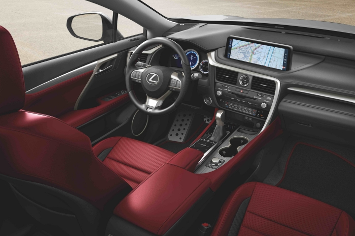 2021_Lexus_RX350_Red_Leather_Interior