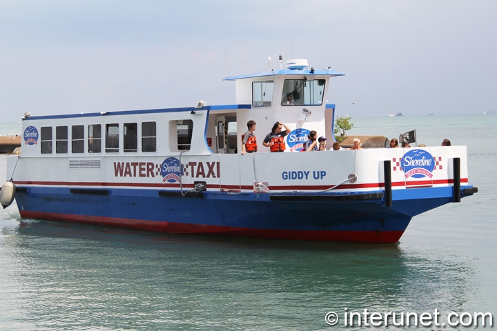 Water Taxi on the Lake Michigan