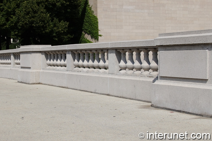 concrete balustrades fence