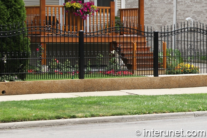 decorative-steel-fence-painted-black