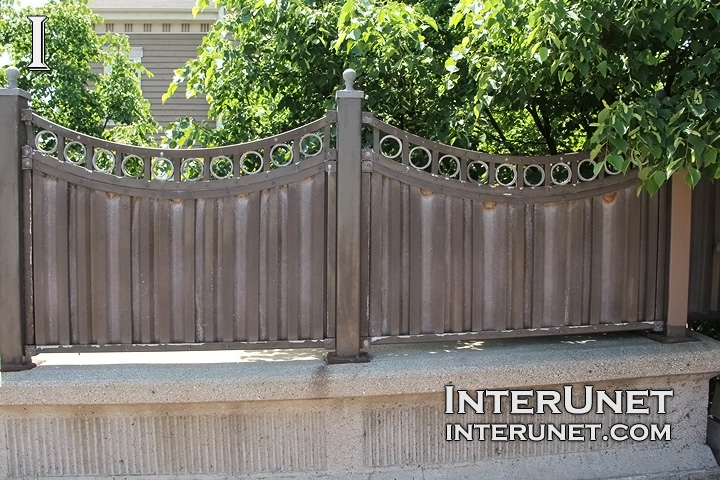 metal concrete fence design ideas - Fence Design Ideas