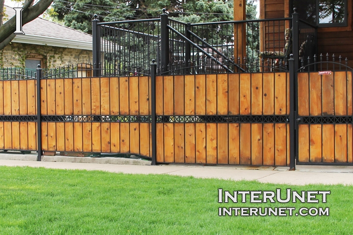 wood fence with steel design ideas