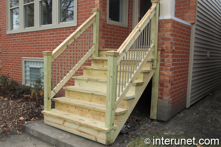 Wood Stairs To Front Porch