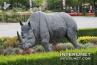 rhinoceros-sculpture