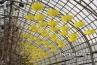 dozens-yellow-umbrellas-hanging-on-the-roof