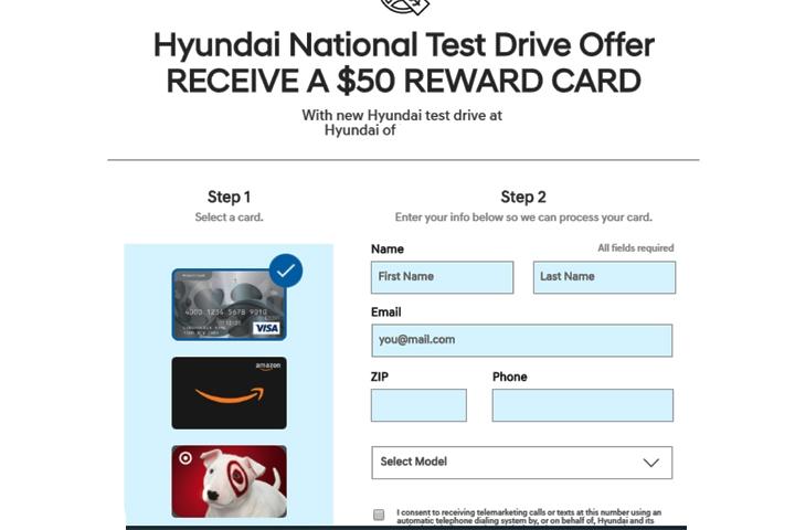 $50 reward card