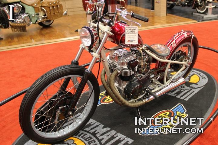 1981 Yamaha XS400 custom bike - retro MOD