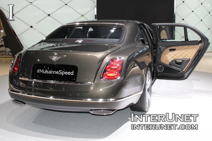 2015 Bentley Mulsanne Speed rear view