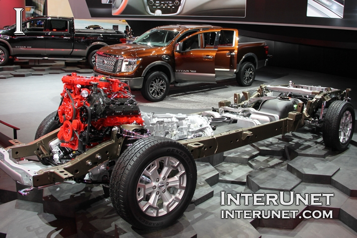 2016 Nissan Titan chassis with engine and transmission