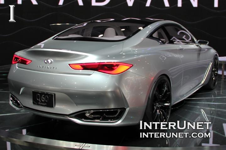 Infiniti Q60 concept rear view