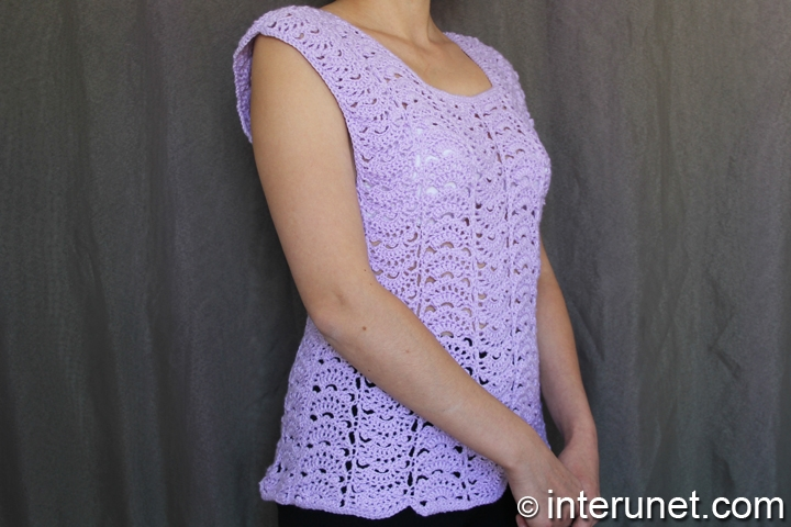 Japanese-fan-stitch-sweater-crochet-pattern