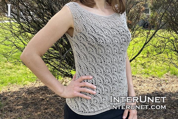blouse crochet shell pattern