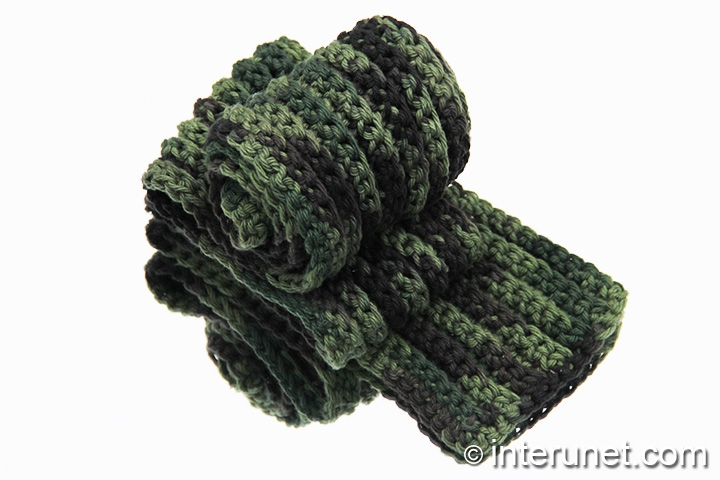 crochet-ribbed-stitch-scarf