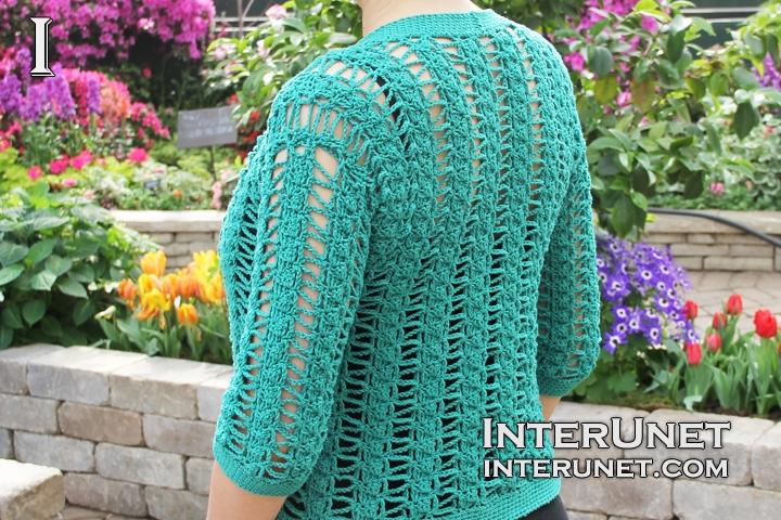 short-sleeve-cardigan-crochet
