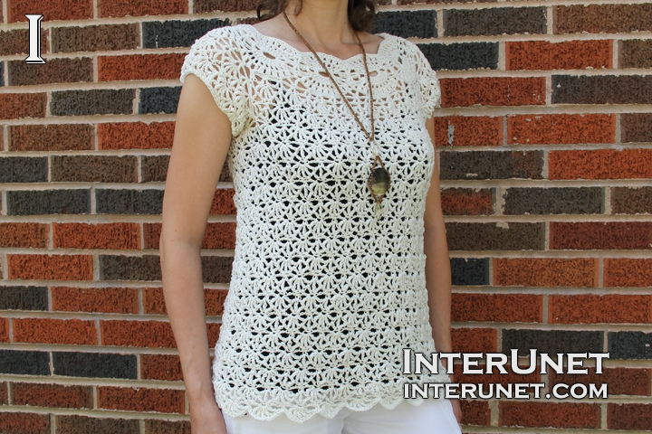 White Jasmine Top Crochet Pattern Interunet