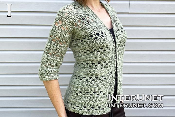 crochet cardigan jacket free simple pattern