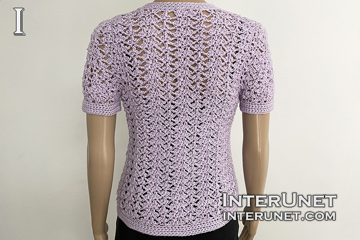 crochet cardigan lace flower pattern