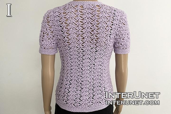 crochet cardigan lace flower pattern