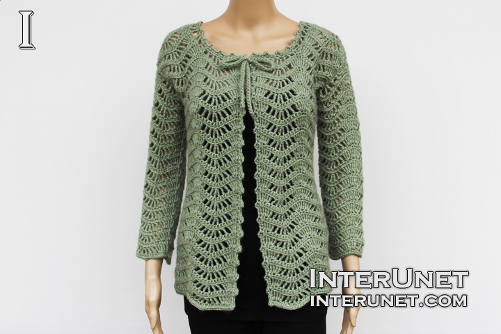 Lace cardigan crochet pattern | interunet