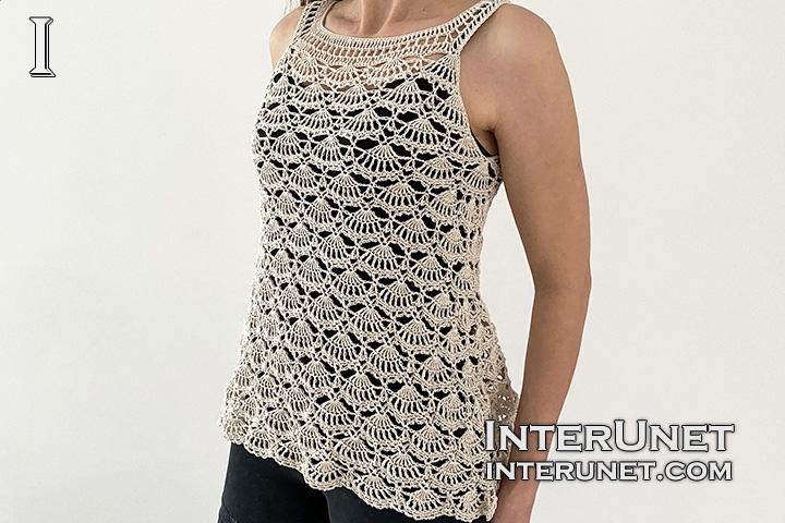 crochet flowy top shell pattern