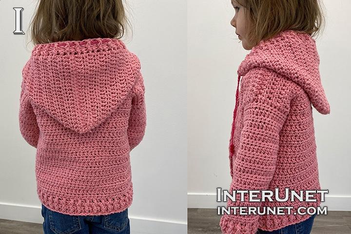 crochet girls hoodie