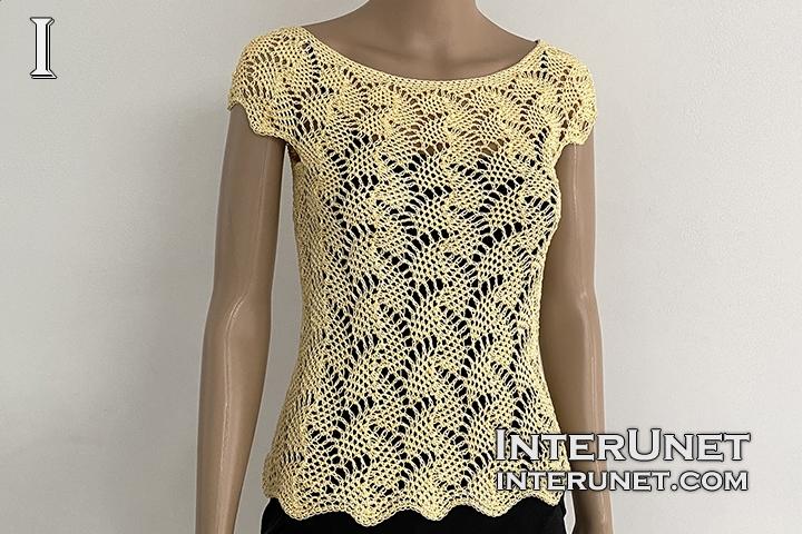crochet lace top leaf pattern free