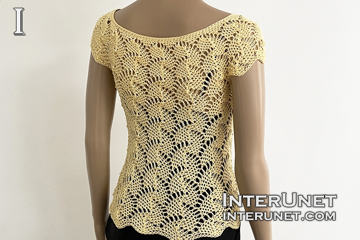 crochet lace top leaf pattern