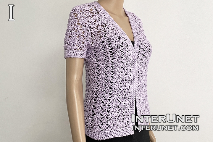 crochet pattern lace cardigan free