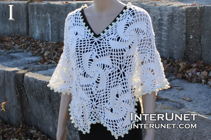 Crochet lace poncho | interunet
