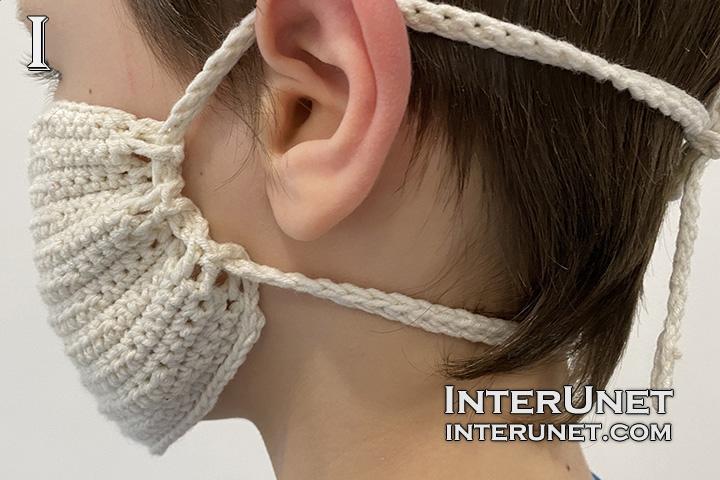 crochet protective facial mask