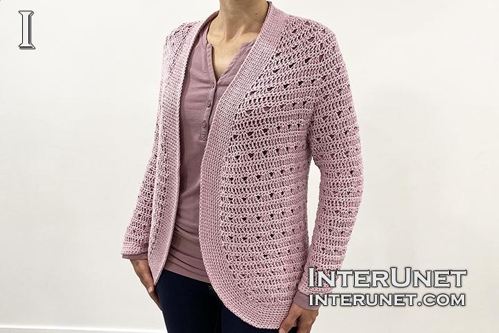 crochet raglan sleeve cardigan shrug pattern