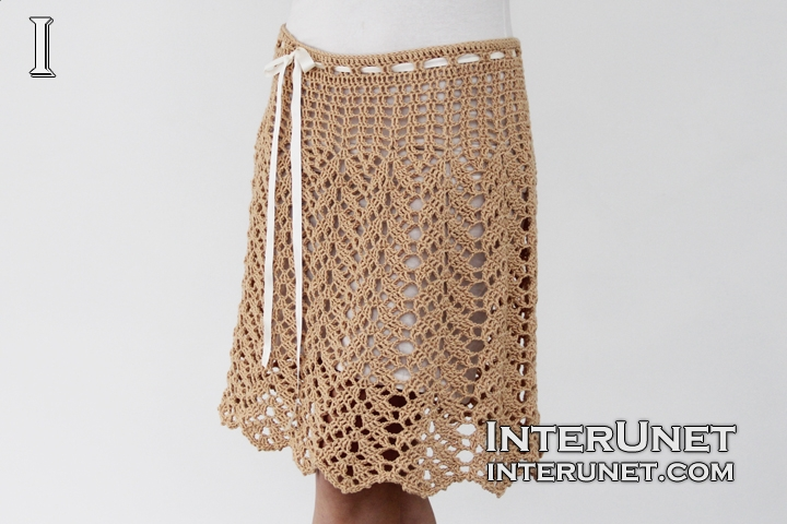 crochet skirt leaf stitch