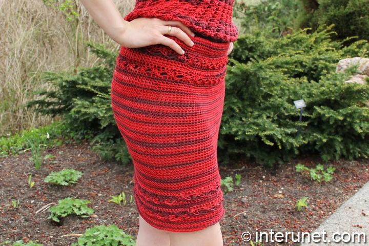 crochet-stylish-red-skirt