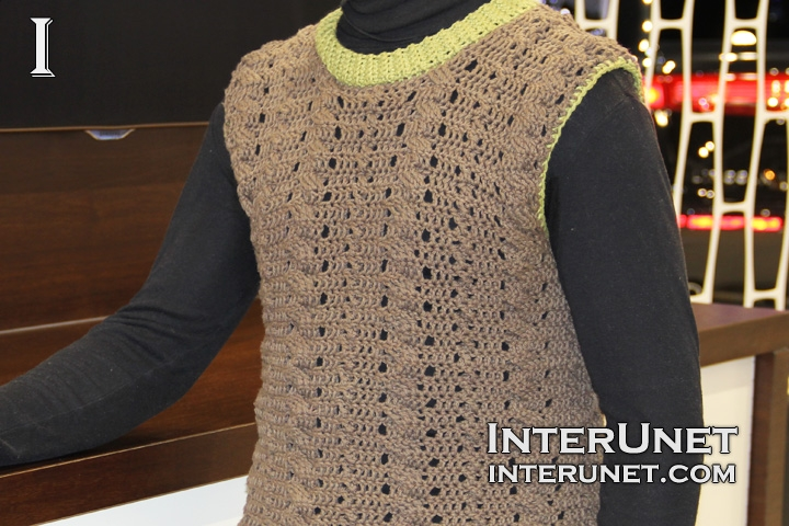 crochet-sleeveless-men's-sweater