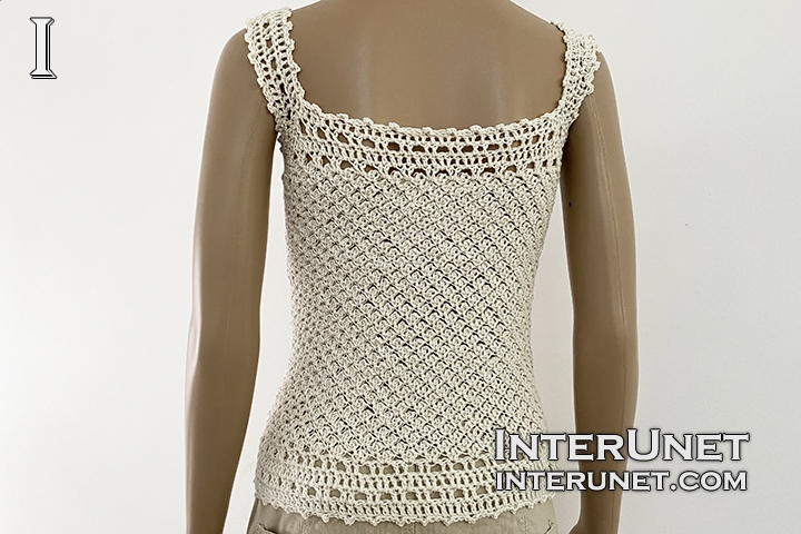 crochet tank top lace pattern