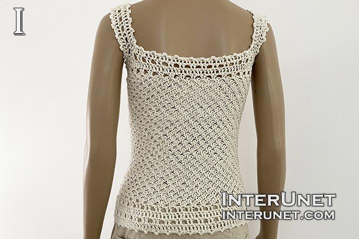 crochet tank top lace pattern