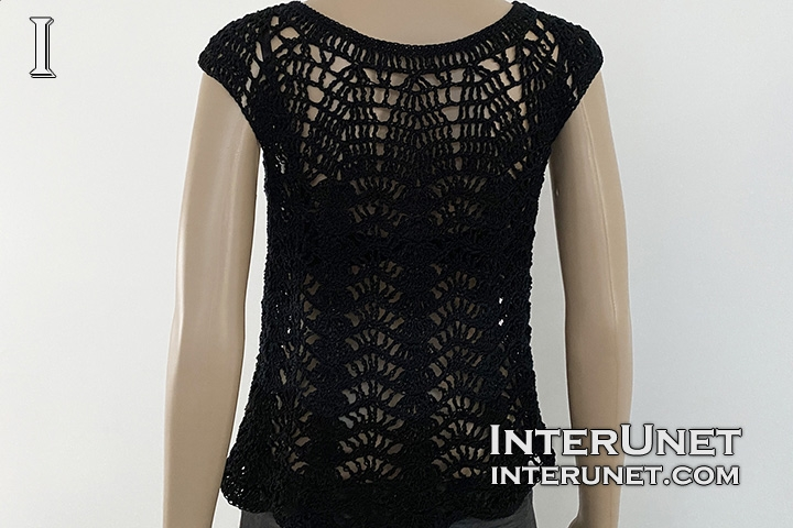 crochet vest cardigan lace pattern