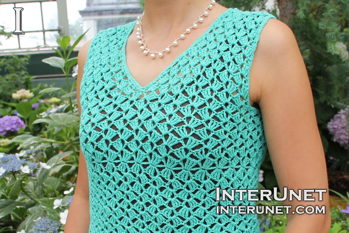 crochet-women's-blouse-triple-crochet-stitch