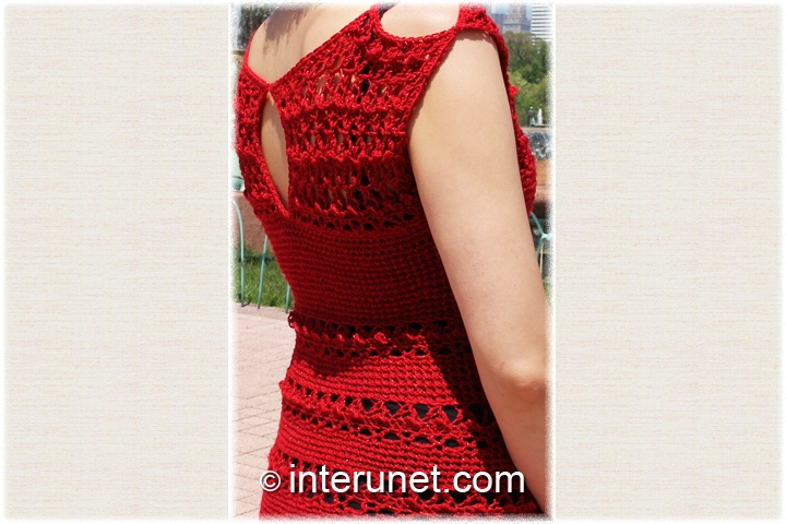 crochet-red-women's-dress