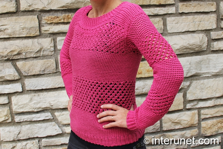 crochet-raspberry-stitch-sweater