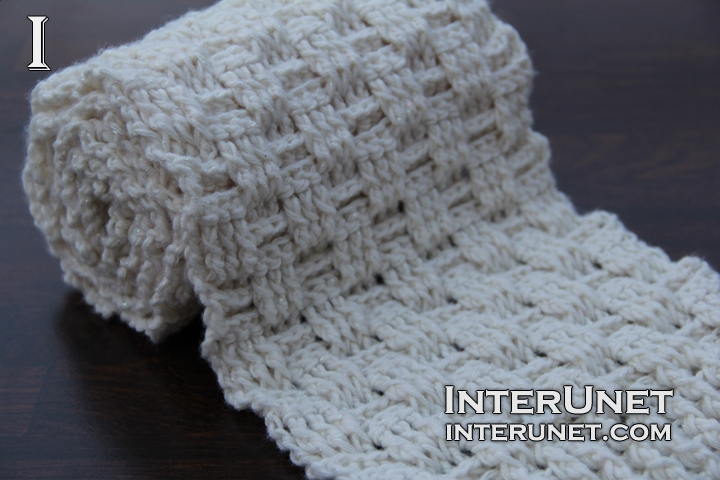 Double Crochet Stitch Scarf Interunet