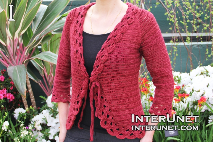 How to crochet triple stitch cardigan interunet