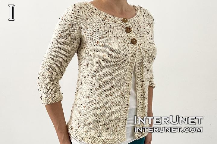 knit cardigan beginners pattern