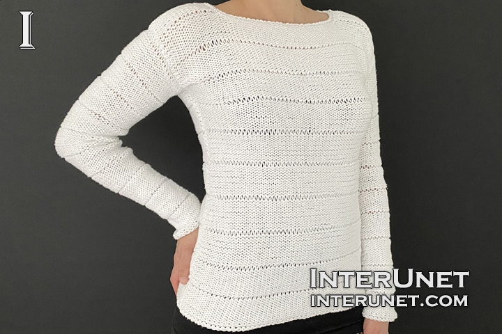 knit purl simple sweater for beginners