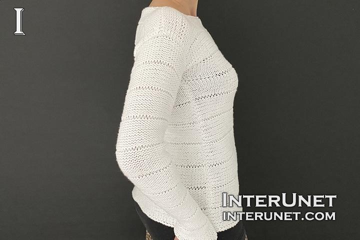 knit striped-sweater