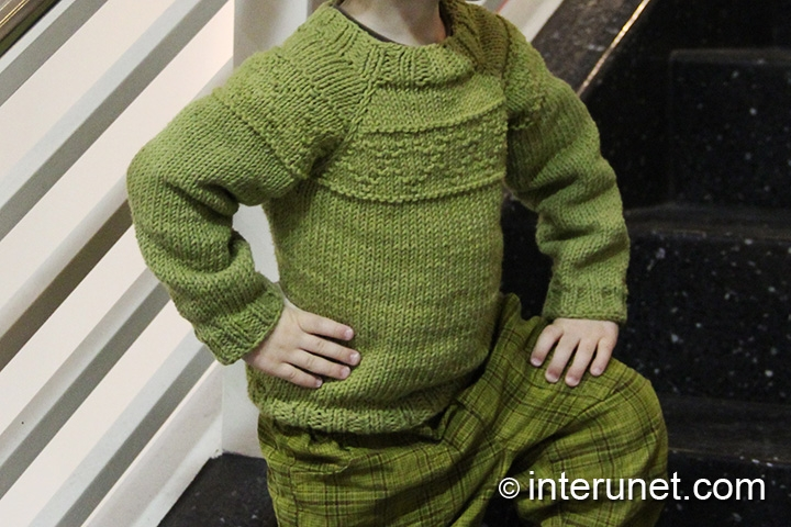 How to knit a sweater for a child | interunet